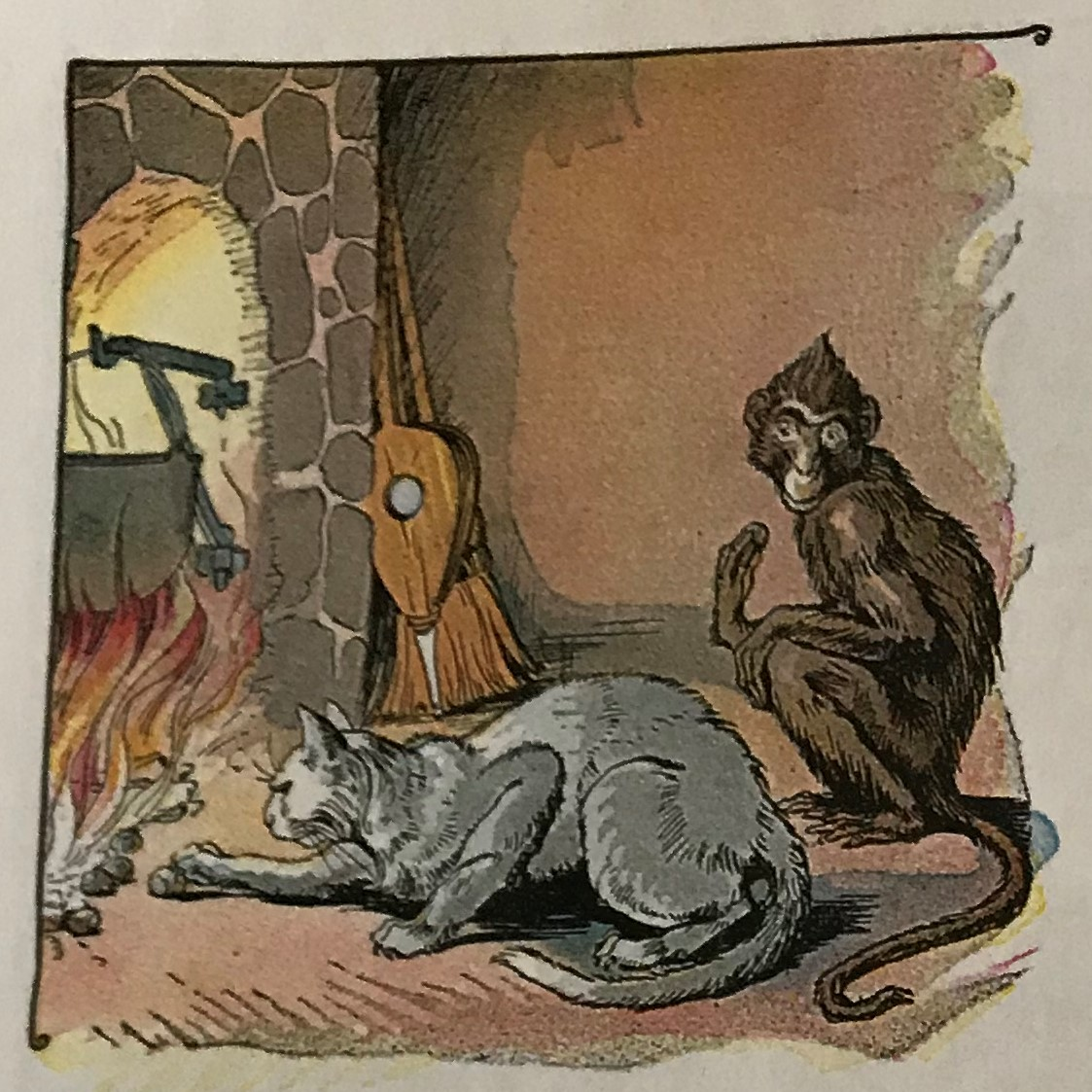 Image result for cat paws chestnuts fire